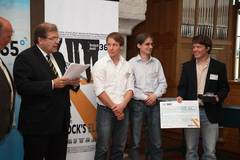 "Felix Winter wins second place in ""Rostock's Eleven"" contest."